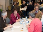 Ontmoeten en kennis uitwisselen aan de verschillende thematafels
